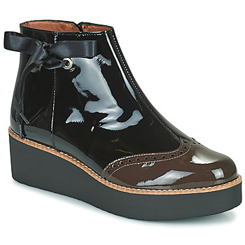 Schoenen Dames Laarzen Fericelli JANDICI Zwart / Brown