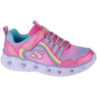 Schoenen Meisjes Fitness Skechers Heart Lights Rainbow Lux Rose