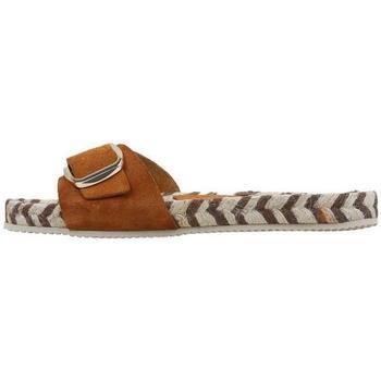 Schoenen Dames Leren slippers Senses & Shoes  Beige