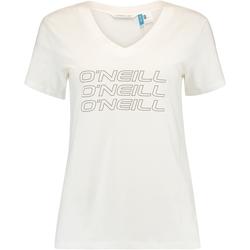 Textiel Dames T-shirts korte mouwen O'neill Triple Stack Wit