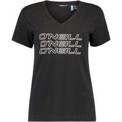 Textiel Dames T-shirts korte mouwen O'neill Triple Stack Zwart