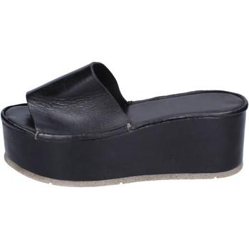Schoenen Dames Leren slippers Moma BH287 Noir