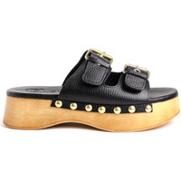 Schoenen Dames Leren slippers Claudia WODD Brown