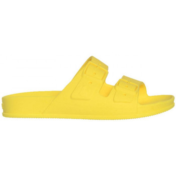 Schoenen Dames Leren slippers Cacatoès Bahia Geel