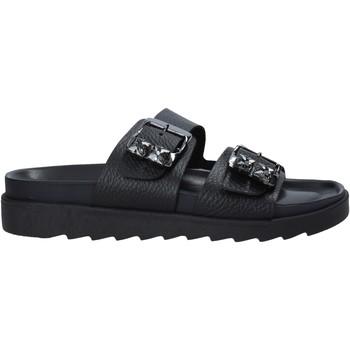 Schoenen Dames Leren slippers Apepazza S1SOFTWLK03/LEA Zwart