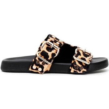 Schoenen Dames Leren slippers Café Noir FF1410 Zwart
