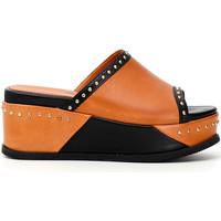 Schoenen Dames Leren slippers Café Noir HH1360 Zwart