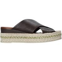 Schoenen Dames Leren slippers Bueno Shoes 21WQ5907 Zwart