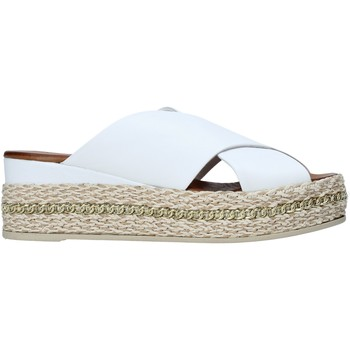 Schoenen Dames Leren slippers Bueno Shoes 21WQ5907 Wit