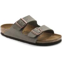 Schoenen Heren Leren slippers Birkenstock 151183 Bruin