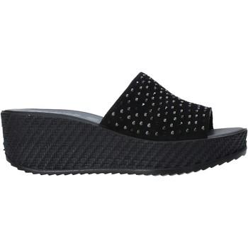 Schoenen Dames Leren slippers Enval 7280000 Zwart
