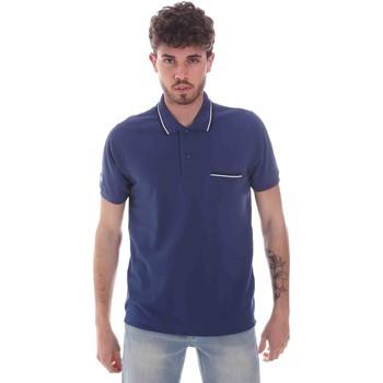 Textiel Heren Polo's korte mouwen Key Up 2Q827 0001 Blauw