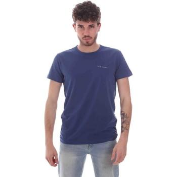 Textiel Heren T-shirts korte mouwen Key Up 2G69S 0001 Blauw