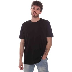 Textiel Heren T-shirts korte mouwen Key Up 2M915 0001 Zwart