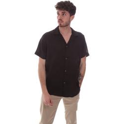 Textiel Heren Overhemden korte mouwen Sseinse CE588SS Zwart