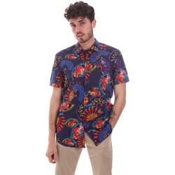 Textiel Heren Overhemden korte mouwen Sseinse CE665SS Blauw