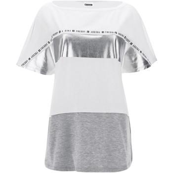 Textiel Dames T-shirts korte mouwen Freddy S1WSDT2M Wit