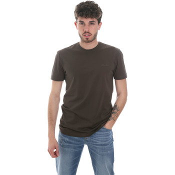 Textiel Heren T-shirts met lange mouwen Antony Morato MMKS01855 FA120022 Groen