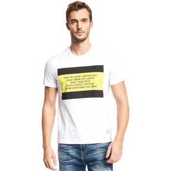 Textiel Heren T-shirts korte mouwen Gaudi 111GU64071 Wit