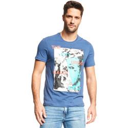 Textiel Heren T-shirts korte mouwen Gaudi 111GU64073 Blauw