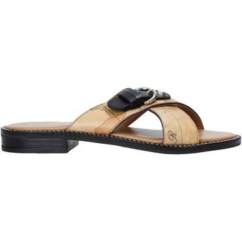 Schoenen Dames Leren slippers Alviero Martini E085 578A Bruin