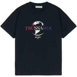 Textiel Heren T-shirts korte mouwen Trussardi 52T00443-1T005227 Zwart