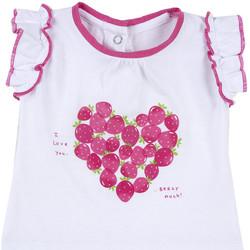 Textiel Meisjes T-shirts korte mouwen Chicco 09067088000000 Wit