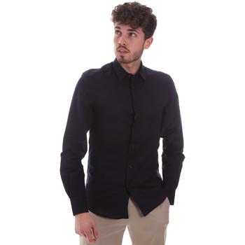 Textiel Heren Overhemden lange mouwen Antony Morato MMSL00628 FA400074 Blauw