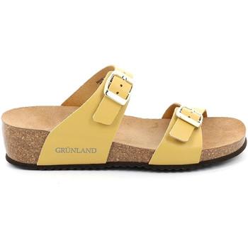Schoenen Dames Leren slippers Grunland CB2548 Geel