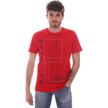 Textiel Heren T-shirts korte mouwen Navigare NV31109 Rood