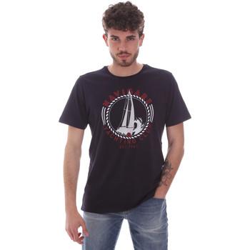 Textiel Heren T-shirts korte mouwen Navigare NV31113 Blauw