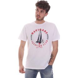Textiel Heren T-shirts korte mouwen Navigare NV31113 Wit