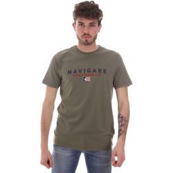 Textiel Heren T-shirts korte mouwen Navigare NV31139 Groen