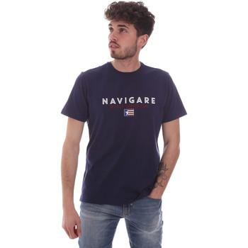 Textiel Heren T-shirts korte mouwen Navigare NV31139 Blauw