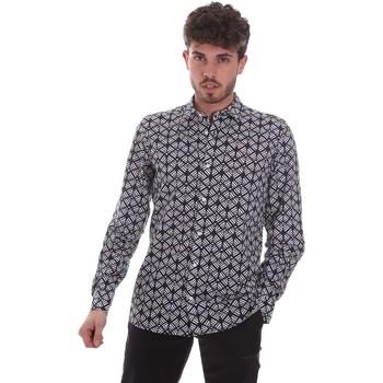 Textiel Heren Overhemden lange mouwen Antony Morato MMSL00614 FA430480 Zwart