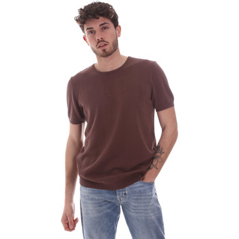 Textiel Heren T-shirts korte mouwen Gaudi 111GU53004 Bruin