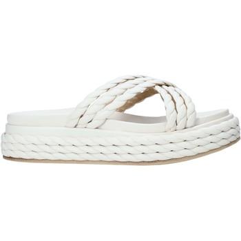 Schoenen Dames Leren slippers Grace Shoes 136T015 Wit