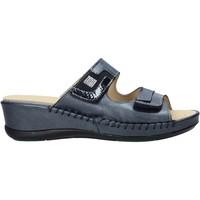 Schoenen Dames Leren slippers Susimoda 1865 Blauw