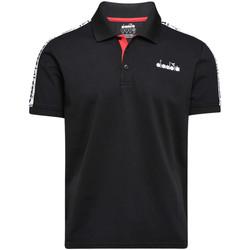 Textiel Heren Polo's korte mouwen Diadora 102175672 Zwart