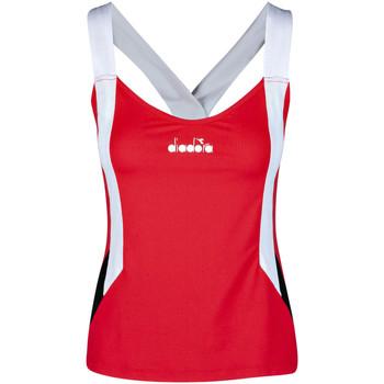 Textiel Dames Mouwloze tops Diadora 102175658 Rood