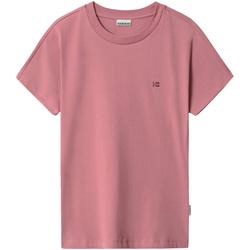 Textiel Dames T-shirts korte mouwen Napapijri NP0A4FAC Roze