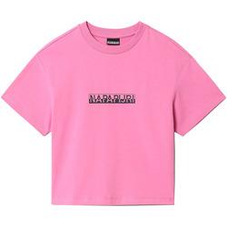 Textiel Dames T-shirts korte mouwen Napapijri NP0A4FHG Roze