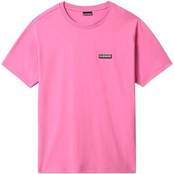 Textiel Heren T-shirts korte mouwen Napapijri NP0A4FG8 Roze