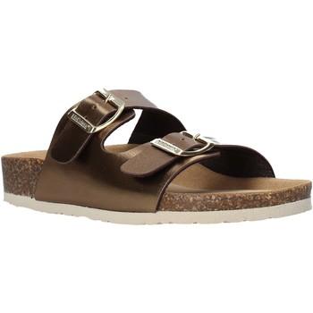 Schoenen Dames Leren slippers Bionatura 94THESISD-LAMRAM Bruin