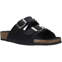 Schoenen Dames Leren slippers Bionatura 10THEDB-I-GAUNER Zwart