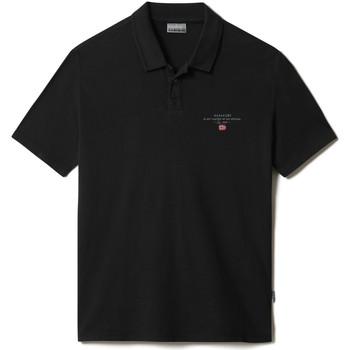 Textiel Heren Polo's korte mouwen Napapijri NP0A4F9P Zwart
