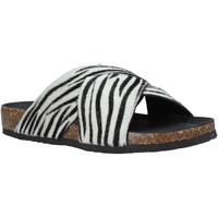 Schoenen Dames Leren slippers Bionatura 10A2118-I-CAVBNR Zwart