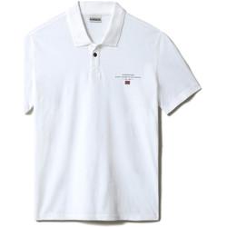 Textiel Heren Polo's korte mouwen Napapijri NP0A4F9P Wit