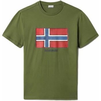 Textiel Heren T-shirts korte mouwen Napapijri NP0A4F9R Groen