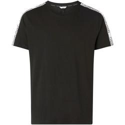 Textiel Heren T-shirts korte mouwen Calvin Klein Jeans KM0KM00607 Zwart